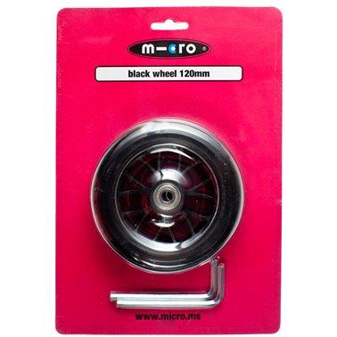 Ruota Micro PU nero 120 mm