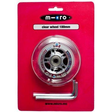 Ruota Micro PU trasp 100 mm